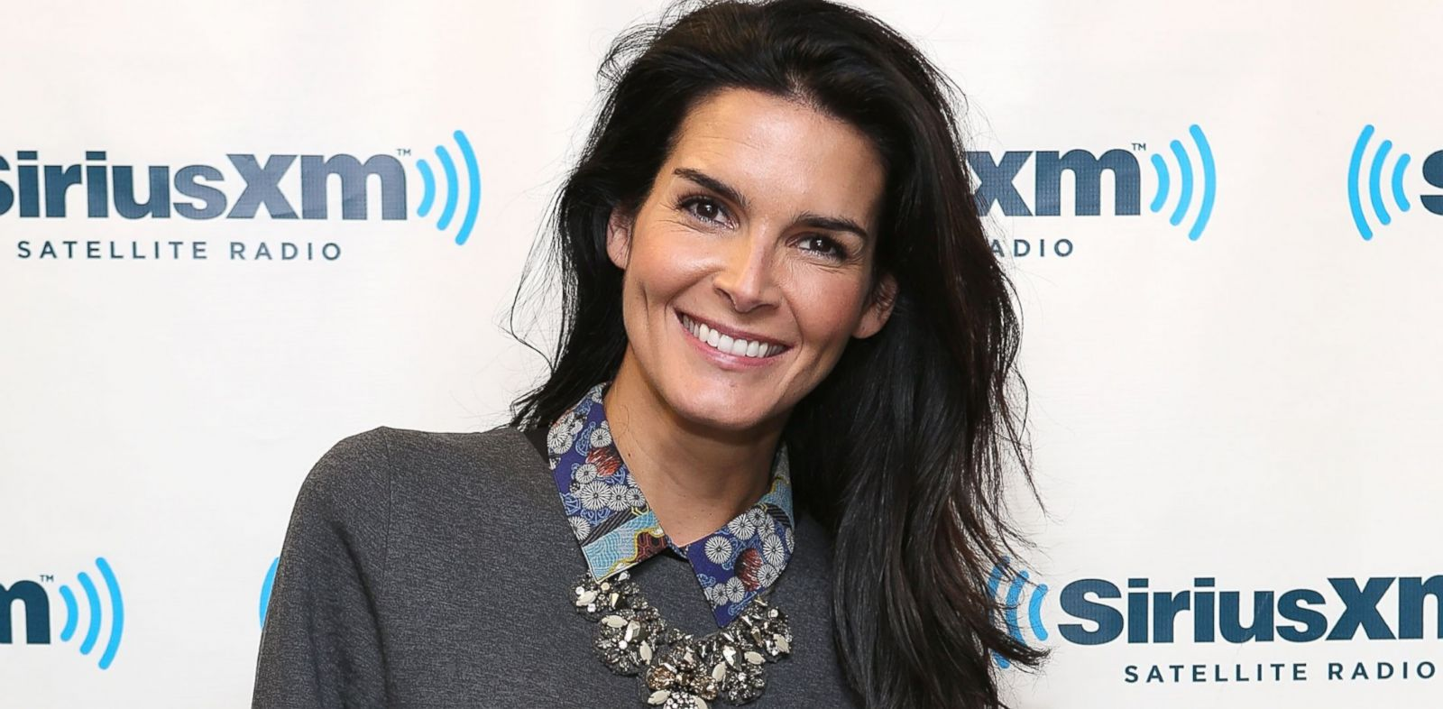 PHOTO: Angie Harmon visits at SiriusXM Studio, Jan. 29, 2014 in New York.