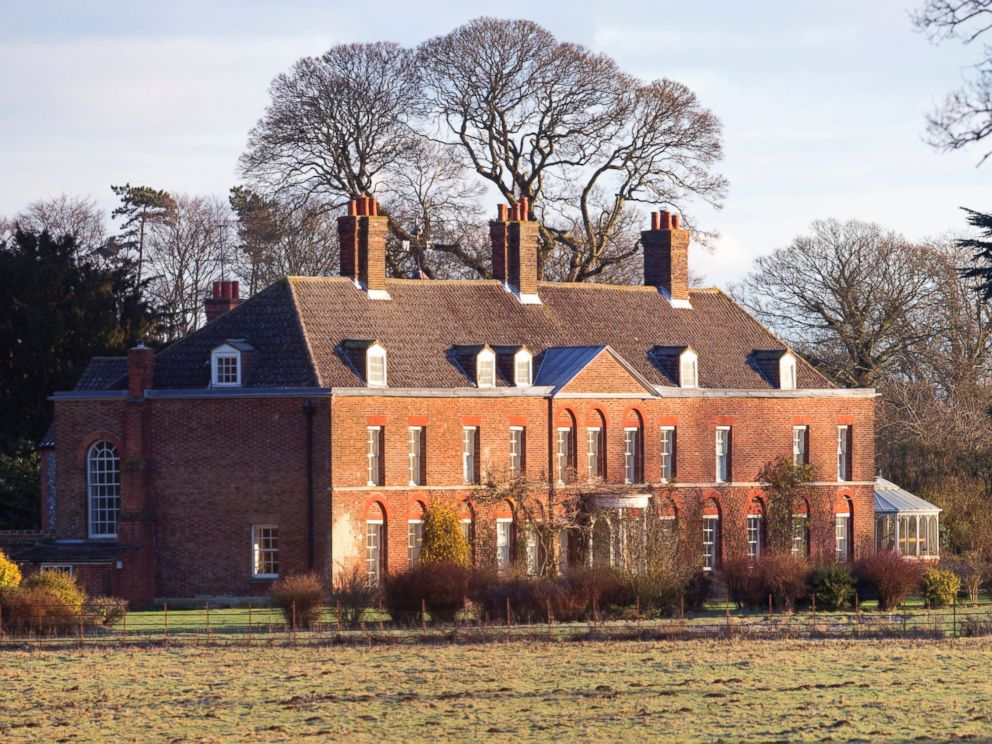 PHOTO: A view of the front of Anmer Hall on the Sandringham Estate, Jan 13, 2013, in Kings Lynn, England.