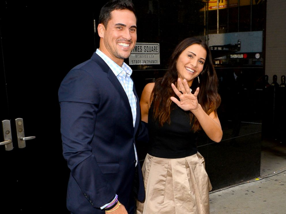 PHOTO: Andi Dorfman and Josh Murray from The Bachelorette are seen leaving Good Morning Americaon July 29, 2014 in New York City.