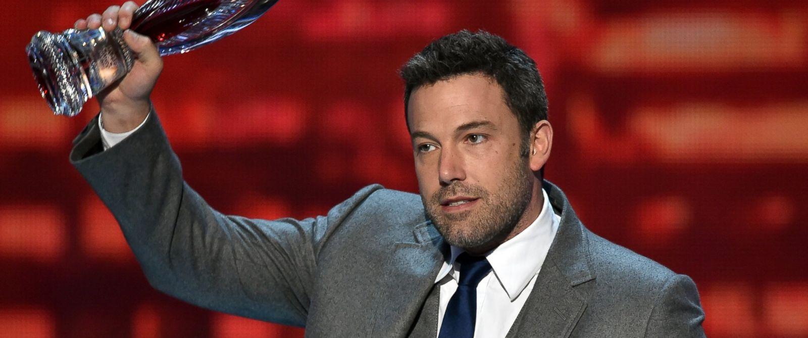 PHOTO: Actor Ben Affleck speaks onstage at The 41st Annual Peoples Choice Awards at Nokia Theatre LA Live, Jan. 7, 2015 in Los Angeles.