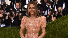 Beyonce Hits the Met Gala Carpet in Latex