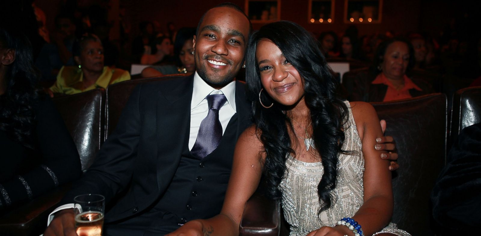 """PHOTO: In this file photo, Nick Gordon, left, and Bobbi Kristina Brown, right, attend """"The Houstons: On Our Own"""" series premiere party on Oct. 22, 2012 in New York City."""