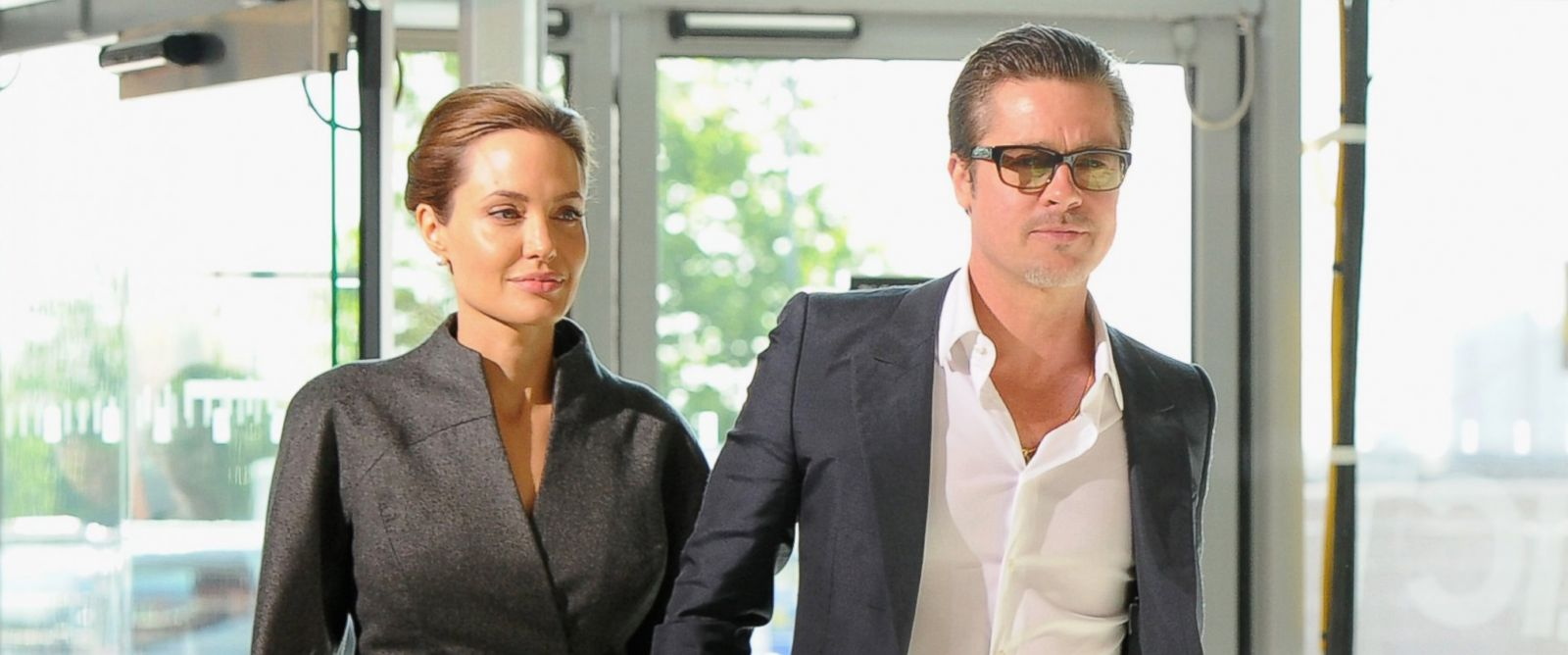 PHOTO: Actress Angelina Jolie and Actor Brad Pitt attend the Global Summit to End Sexual Violence in Conflict at ExCel, June 13, 2014, in London.