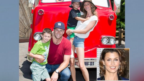 PHOTO: In this handout photo provided by Disney Parks, Tom Brady, his son Jack, Gisele Bundchen, and their son Benjamin, pose at Disney California Adventure park July 2, 2013 in Anaheim, Calif. | Bridget Moynahan, Sept. 26, 2013 in New York City.