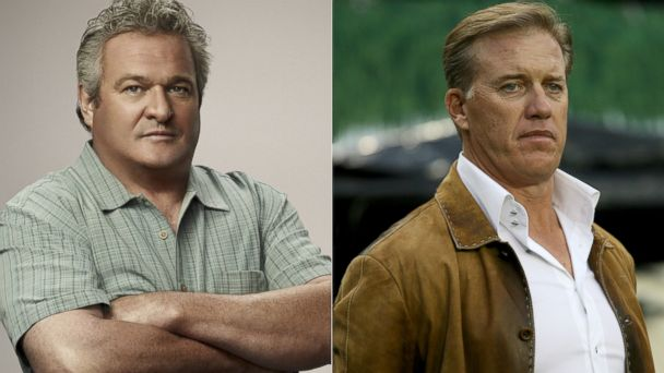 PHOTO: Buddy Garrity in Friday Night Lights and Denver Broncos executive vice president John Elway.