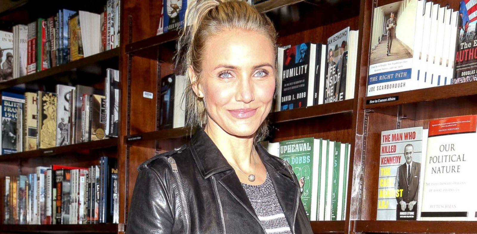 """PHOTO: Cameron Diaz promotes her new book """"The Body Book: The Law of Hunger, the Science of Strength and Other Ways to Love Your Amazing Body"""" at Barnes and Noble in Union Square, New York, Jan. 6, 2014."""