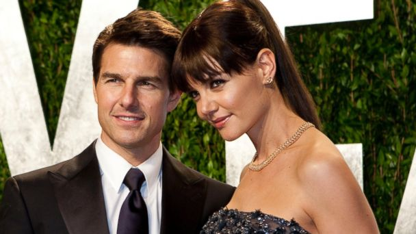 PHOTO: Katie Holmes, right, and Tom Cruise, left, are pictured on Feb. 26, 2012 in West Hollywood, Calif.