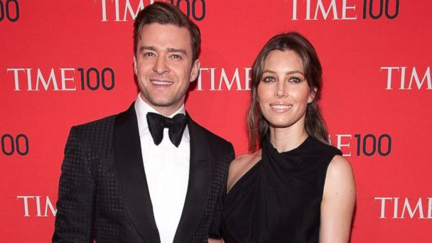 PHOTO: Justin Timberlake, left, and Jessica Biel, right, are pictured on April 23, 2013 in New York City.