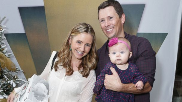 PHOTO: Beverley Mitchell, left, Michael Cameron, right, and their daughter Kenzie are pictured in Los Angeles on Dec. 7, 2013.