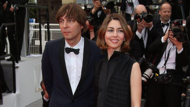PHOTO: Sofia Coppola, right, and Thomas Mars, left, are pictured in Cannes, France on May 17, 2014.