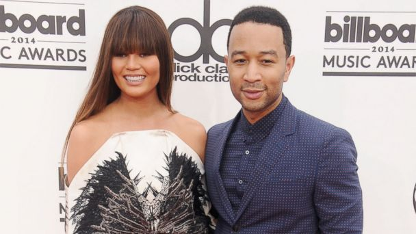PHOTO: Chrissy Teigen, left, and John Legend, right, are pictured in Las Vegas on May 18, 2014.