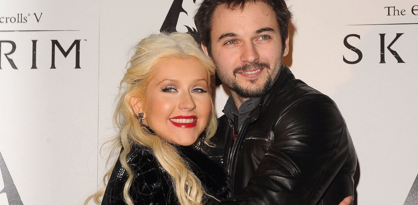 PHOTO: Singer Christina Aguilera and Matt Rutler arrive at the official launch party for The Elder Scrolls V: Skyrim in this Nov. 8, 2011, file photo.