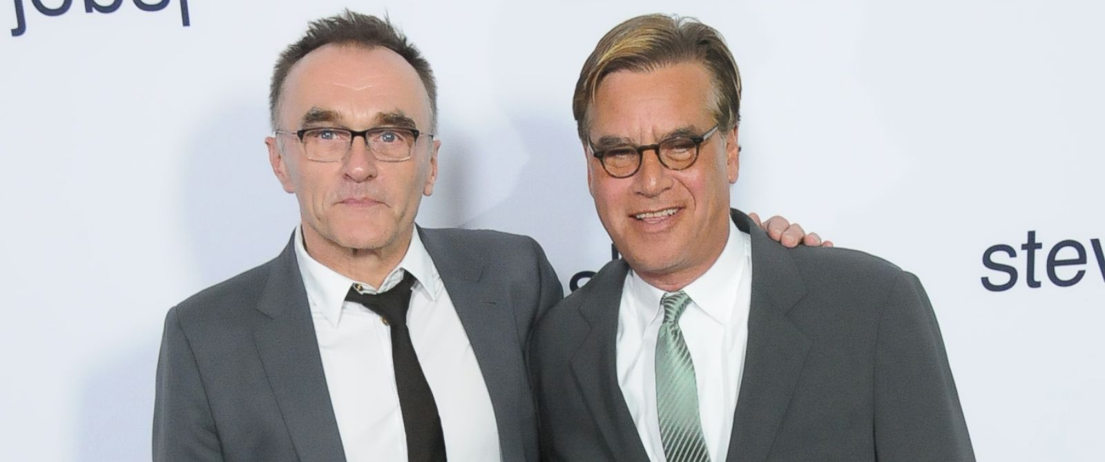 PHOTO: (L-R) Director Danny Boyle and writer Aaron Sorkin arrive at the screening of Universal Pictures Steve Jobs at the Samuel Goldwyn Theater on Oct. 8, 2015 in Los Angeles, Calif.