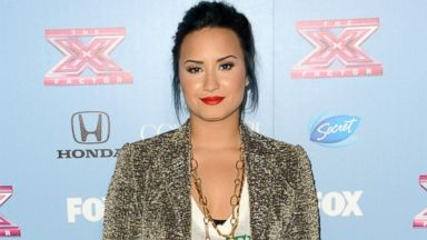 "PHOTO: Demi Lovato arrives at ""The X Factor"" Finalists Party at SLS Hotel, Nov. 4, 2013, in Los Angeles."