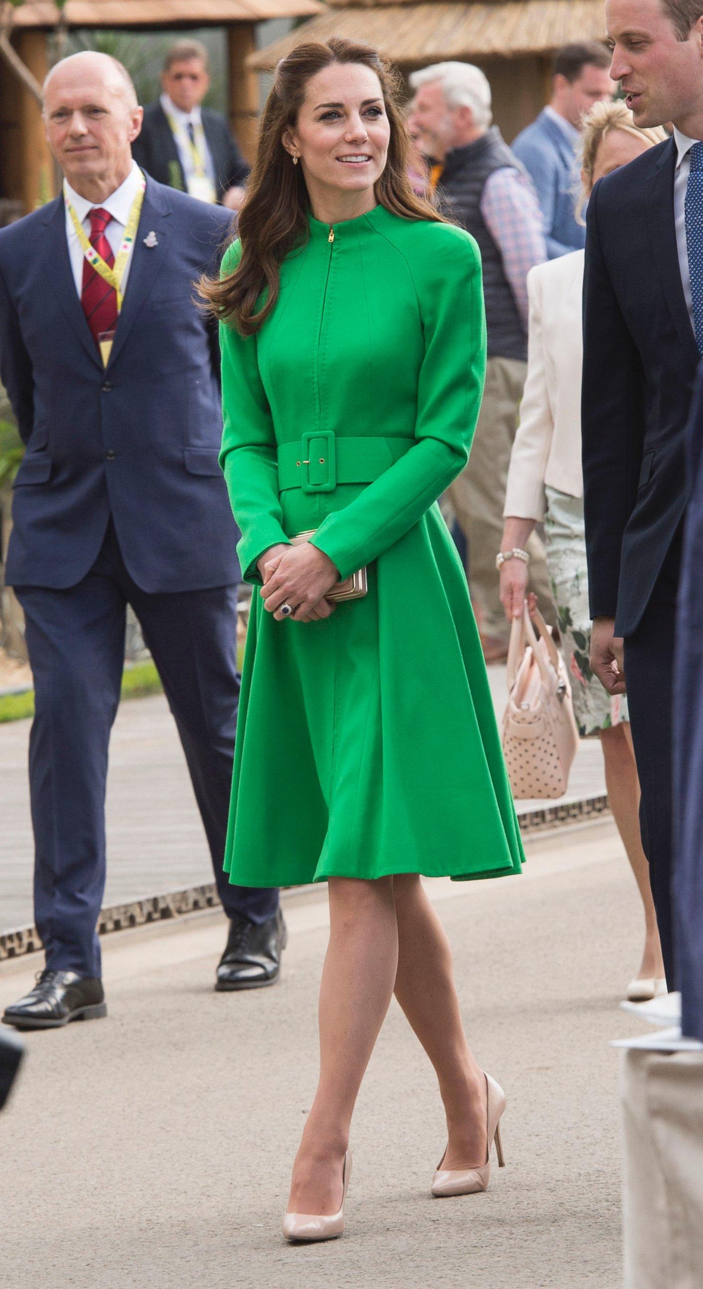 Duchess Kate Middleton Looks Lovely in Green