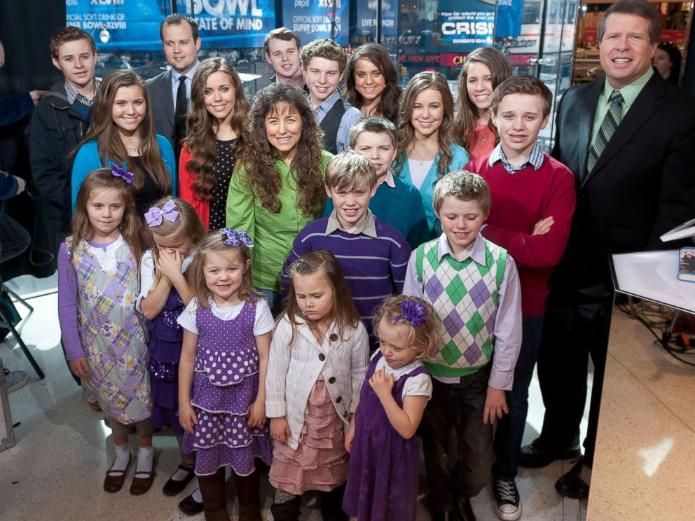 PHOTO: The Duggar family in Times Square, March 11, 2014 in New York City.