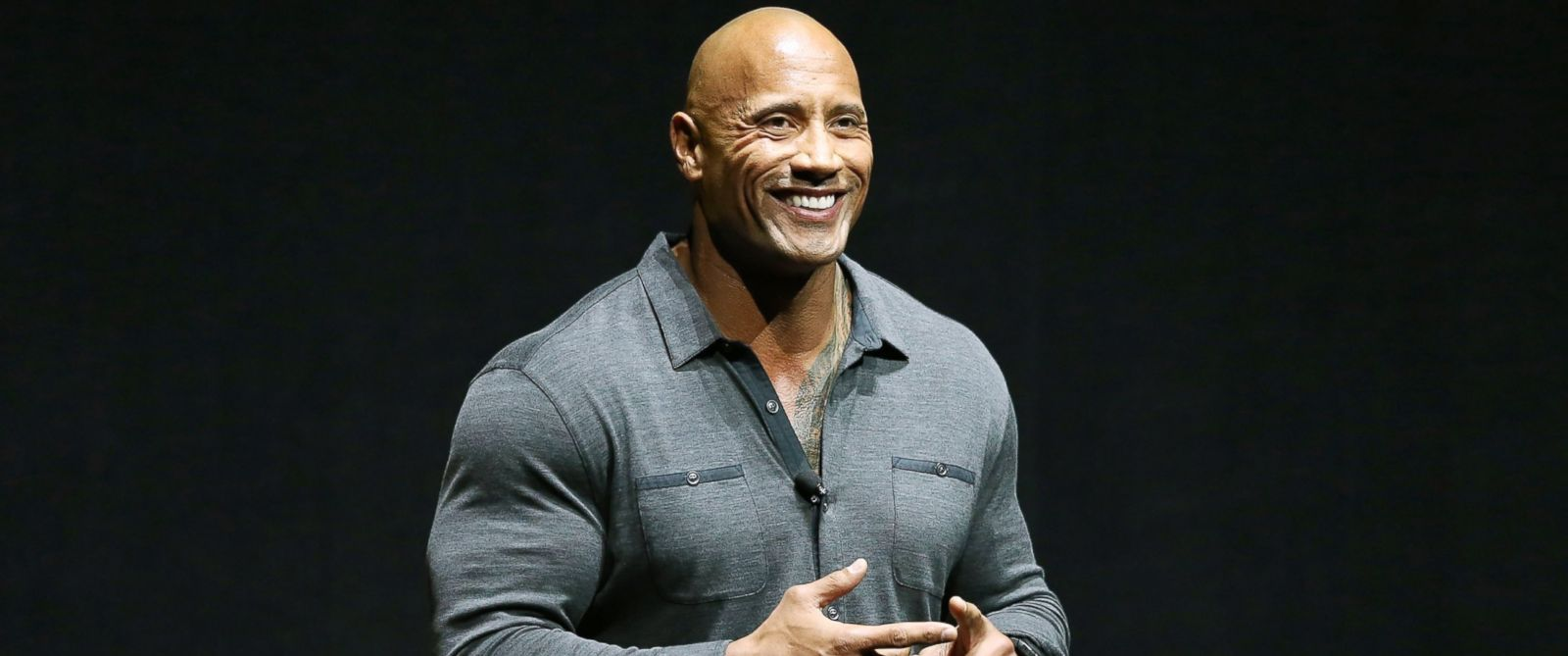 PHOTO: Dwayne Johnson speaks onstage at the Paramount Studios presentation Cinemacon 2014 held at The Colosseum at Caesars Palace, March 24, 2014, in Las Vegas.