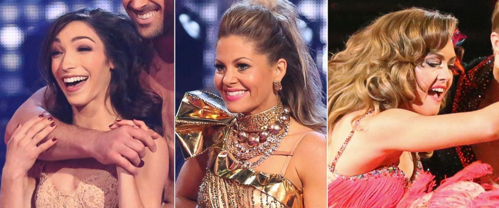 """PHOTO: Meryl Davis, Candace Cameron Bure and Amy Purdy compete on season 18 of ABCs """"Dancing With the Stars."""""""