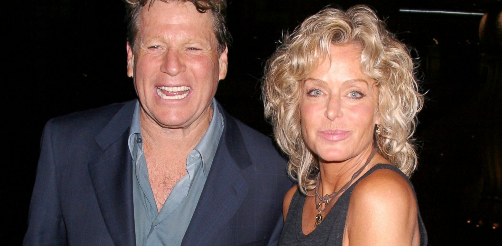 """PHOTO: Ryan ONeal and Farrah Fawcett attend """" Malibus Most Wanted"""" premiere in Los Angeles, April 10, 2003."""