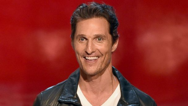"""PHOTO: Actor Matthew McConaughey speaks onstage during Spike TVs """"Guys Choice 2014"""" at Sony Pictures Studios on June 7, 2014 in Culver City, Calif."""
