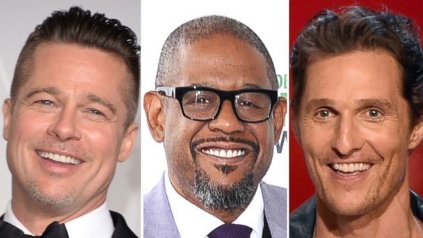 PHOTO: From left to right, Brad Pitt, Forest Whitaker and Matthew McConaughey are seen.