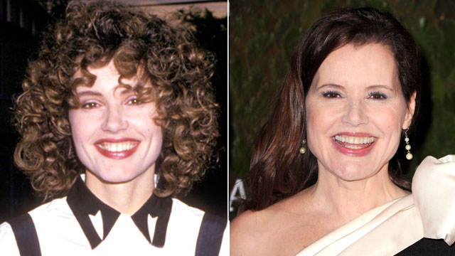 PHOTO: Geena Davis then and now.