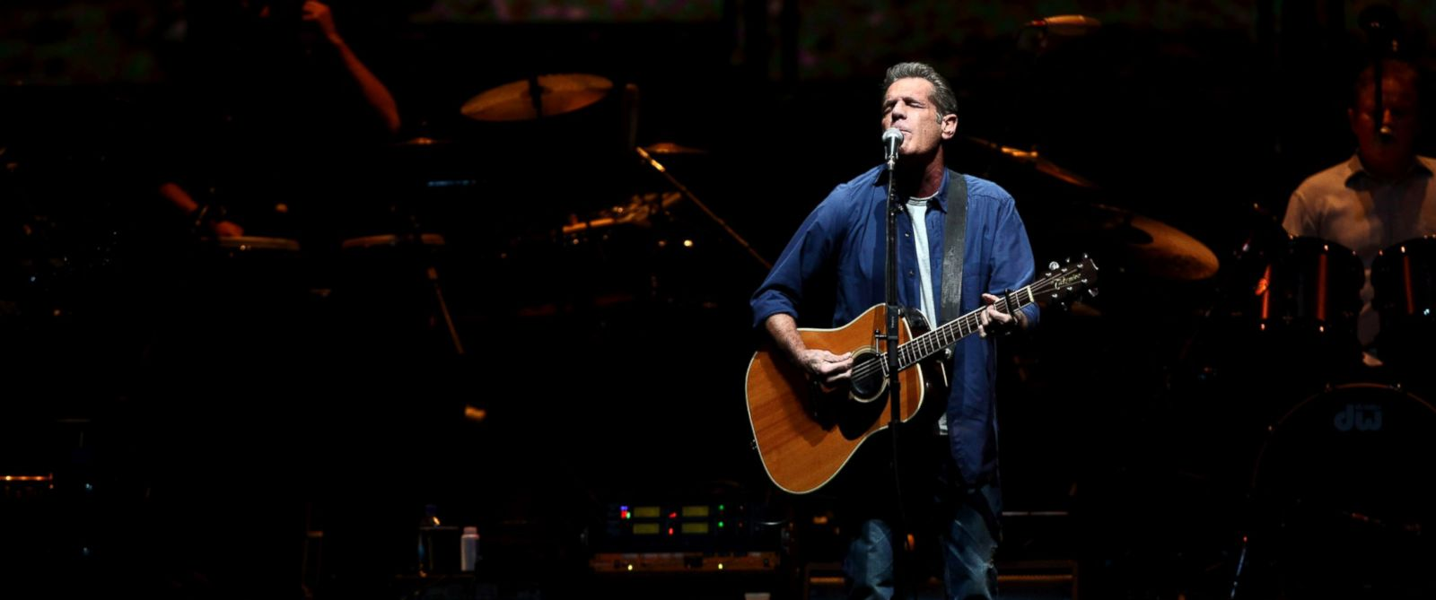 PHOTO: Glenn Frey of The Eagles performs at the grand opening of the newly renovated Forum on Jan. 15, 2014 in Inglewood, California.