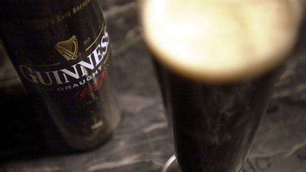 PHOTO: A glass of Guinness stout sits on a bar March 8, 2001 in New York City.