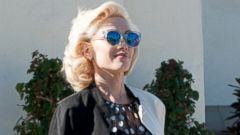 Gwen Stefani Steps Out in Bright Red Boots