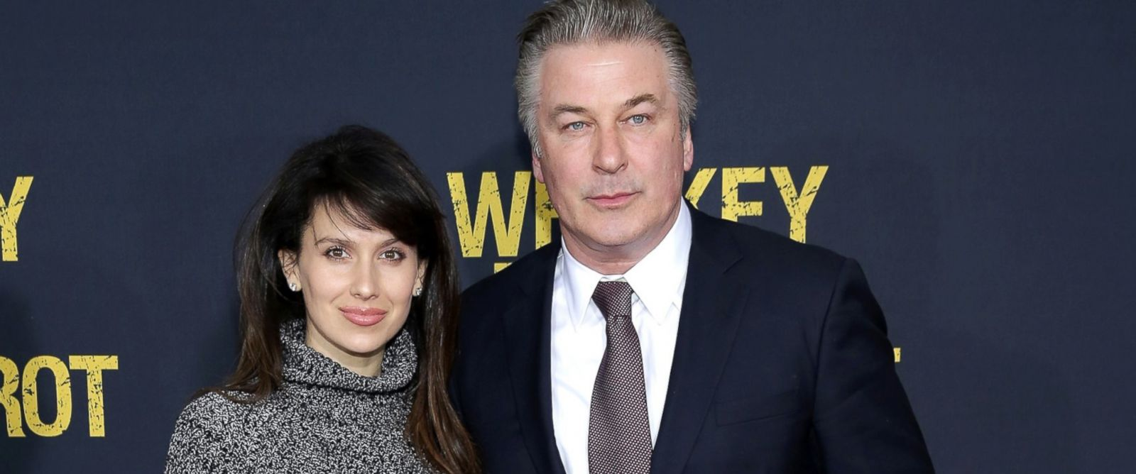 """PHOTO: Hilaria Thomas Baldwin and Alec Baldwin attend the World Premiere of the Paramount Pictures title """"Whiskey Tango Foxtrot"""", March 1, 2016, in New York City."""