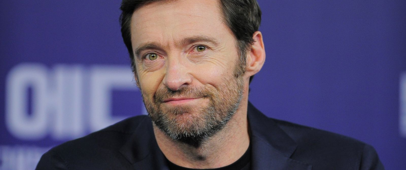 """PHOTO: Hugh Jackman attends the press conference for """"Eddie the Eagle"""" in Seoul, South Korea, March 7, 2016."""