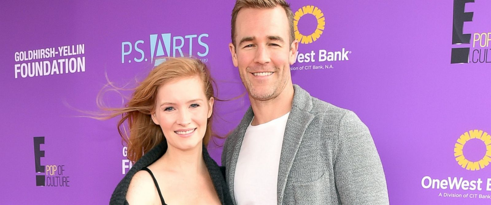 PHOTO: Kimberly Brook, left and James Van Der Beek attend Express Yourself 2015 to benefit P.S. ARTS, Nov. 15, 2015 in Santa Monica, Calif.