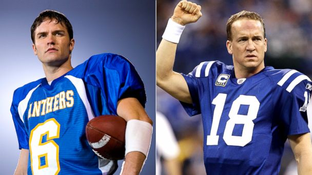 PHOTO: Jason Street in Friday Night Lights and Denver Broncos quarterback, Peyton Manning.