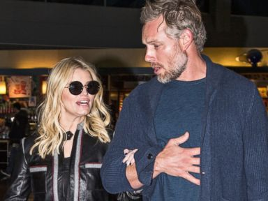 Jessica Simpson Dresses Down for a Flight with her Husband