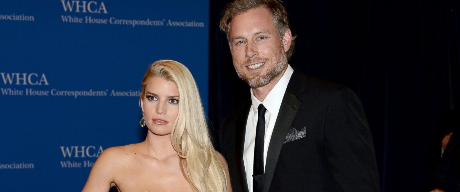PHOTO: Jessica Simpson and Eric Johnson attend the 100th Annual White House Correspondents Association Dinner at the Washington Hilton, May 3, 2014, in Washington.