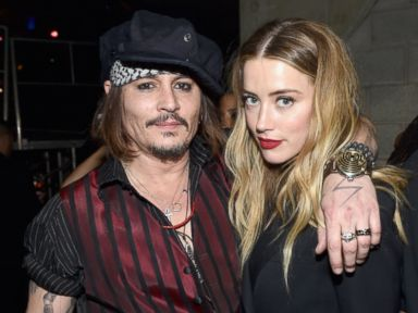 PHOTO: Johnny Depp and actress Amber Heard attend The 58th GRAMMY Awards at Staples Center, Feb. 15, 2016 in Los Angeles.