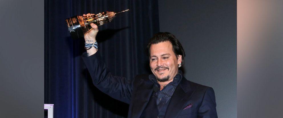PHOTO: Johnny Depp appears onstage at the Maltin Modern Master award tribute during the 31st Santa Barbara International Film Festival, Feb. 4, 2016 in Santa Barbara, Calif.