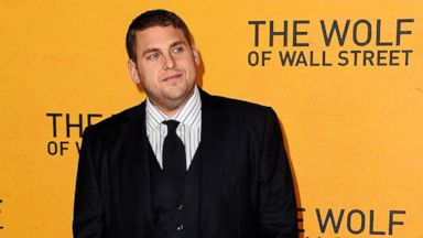 """PHOTO: Jonah Hill attends the UK Premiere of """"The Wolf Of Wall Street"""" at Odeon Leicester Square on Jan. 9, 2014 in London."""