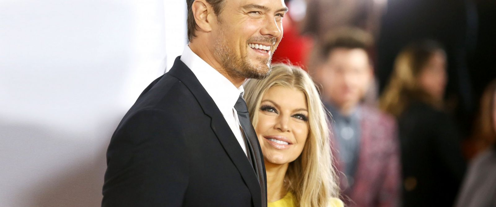 PHOTO: Josh Duhamel and Fergie Duhamel arrive at the 15th Annual Trevor Project Benefit held at Hollywood Palladium in Hollywood, Calif., Dec. 8, 2013.