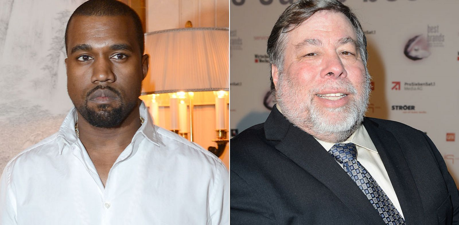 PHOTO: Kanye West ; Steve Wozniak