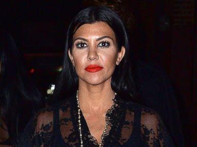 Kourtney Kardashian Wears a Completely Sheer Lace Dress