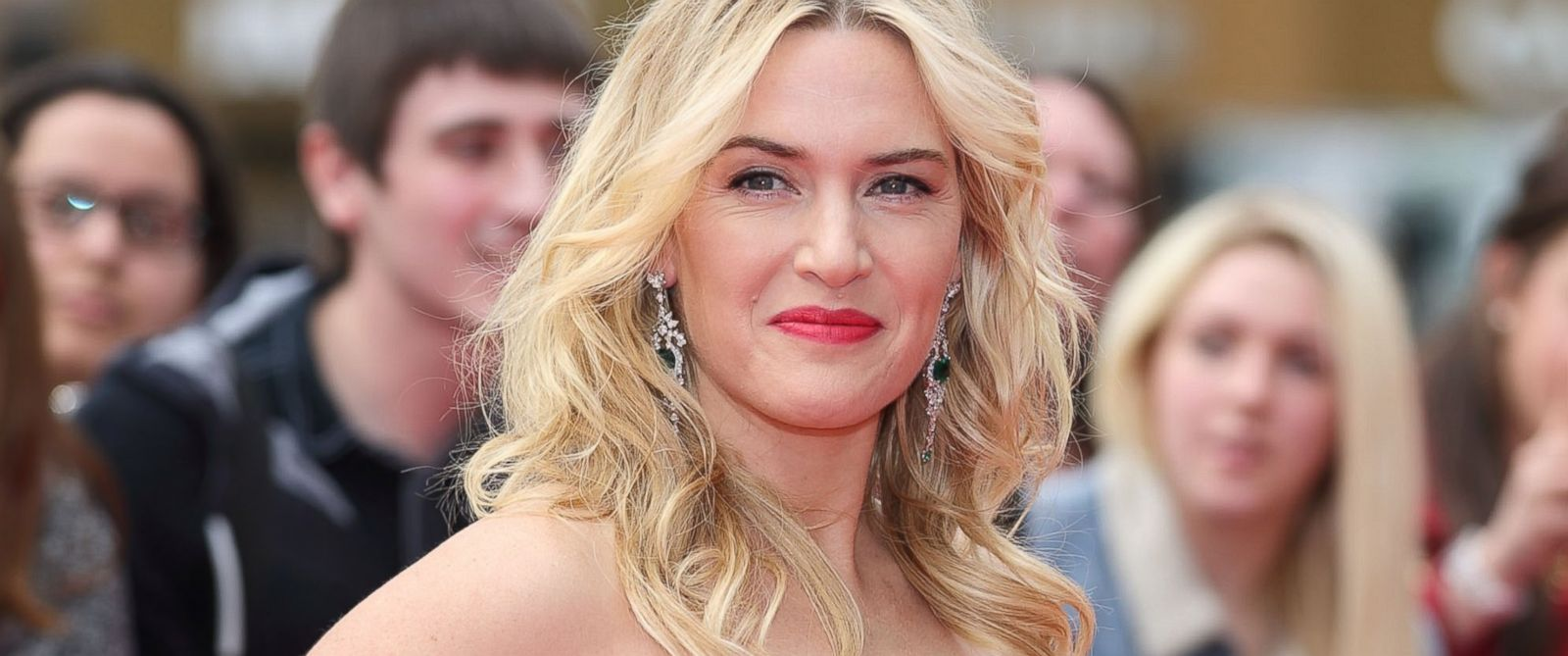 """PHOTO: Kate Winslet attends the European premiere of """"Divergent"""" at Odeon Leicester Square in London"""