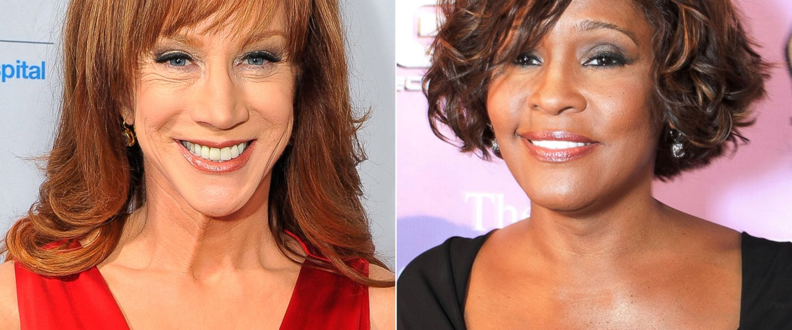 PHOTO: Kathy Griffin and Whitney Houston.