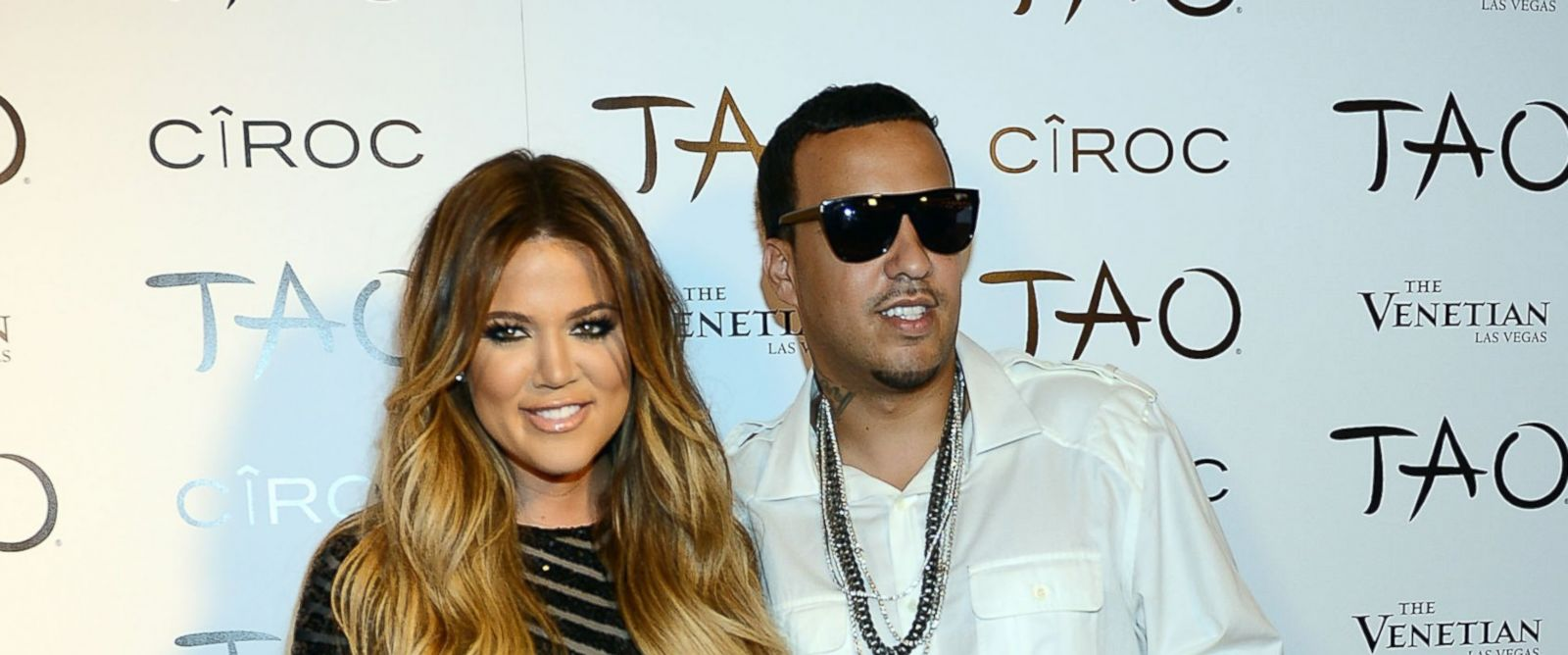 PHOTO: Khloe Kardashian and French Montana arrives at Khloe Kardashians 30th birthday party at TAO Nightclub on July 4, 2014 in Las Vegas, Nevada.
