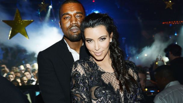 PHOTO: Kanye West and Kim Kardashian celebrate New Years Eve countdown at 1 OAK Nightclub at The Mirage Hotel & Casino in this Dec. 31, 2012, file photo in Las Vegas, Nevada.