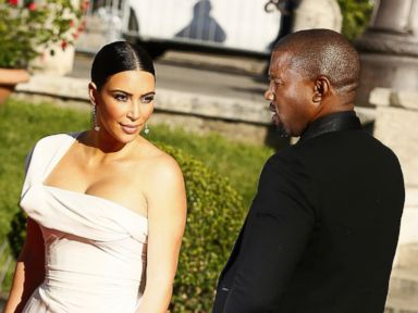 Kim Kardashian and Kanye West Look Fierce in Rome