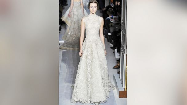 PHOTO: A model walks the runway during the Valentino Spring/Summer 2013 Haute-Couture show