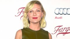 Kirsten Dunst Hits the Carpet in Green Leather