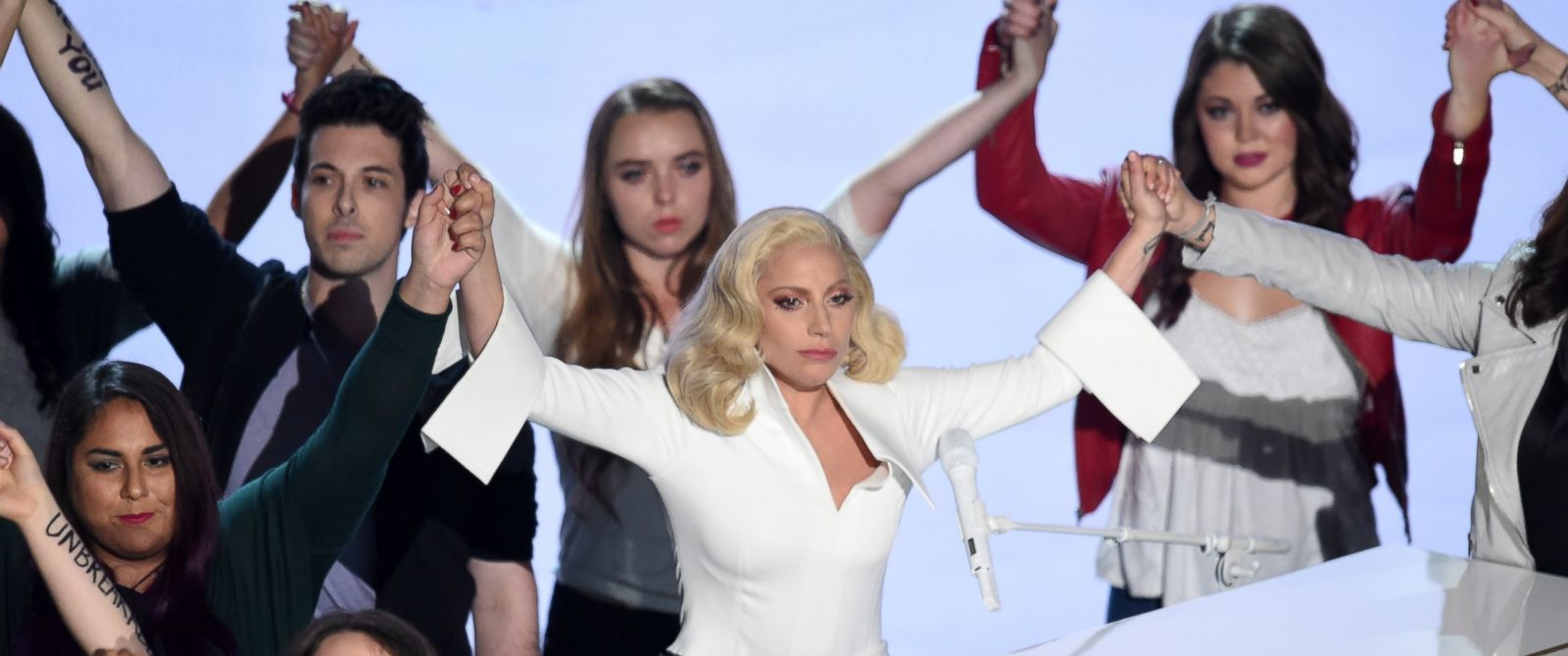 PHOTO: Lady Gaga performs onstage during the 88th Annual Academy Awards at the Dolby Theatre, Feb. 28, 2016 in Hollywood, California.