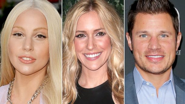 PHOTO: Lady Gaga attends the American Music Awards, Nov. 24, 2013 in Los Angeles. Kristen Cavallari attends the QVC Red Carpet Style Event, Feb. 22, 2013 in Beverly Hills. Nick Lachey attends TV Guide magazines Hot List Party, Nov. 4, 2013 in Hollywood.